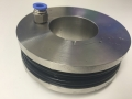 EPDM inflatable seal in stainless machined housing
